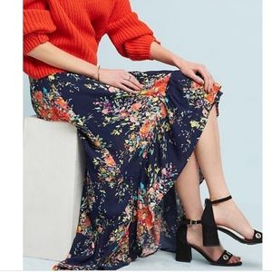 Anthropologie On The Road high-low skirt
